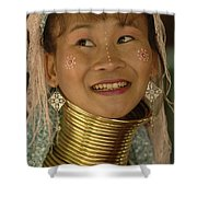 Long Necked Woman Thailand 5 Shower Curtain