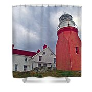 Long Point Lighthouse In Twillingate-nl Shower Curtain