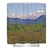 Long Range Mountains In Western Nl Shower Curtain