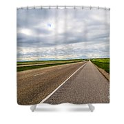 Road To The Sky In Saskatchewan. Shower Curtain