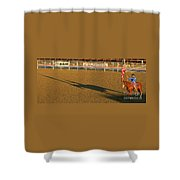 Long Shadow At Sunset Shower Curtain