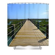 Long St. Augustine Marsh Dock Shower Curtain