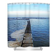 Long View To The Ocean Shower Curtain