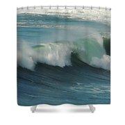 Long Wave Shower Curtain