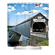 Longest Covered Bridge Shower Curtain