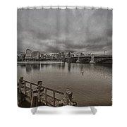 Longfellow Bridge Boston V8 Shower Curtain