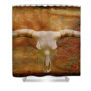 Longhorn Of Texas Shower Curtain by Jack Zulli