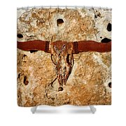 Longhorn On The Rock Shower Curtain