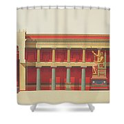 Longitudinal Section Of The Temple Shower Curtain