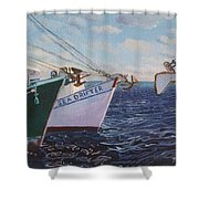 Longliners Achor To Anchor Shower Curtain