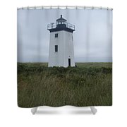 Longpoint Lighthouse Shower Curtain