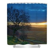 Longshaw Sunset Shower Curtain