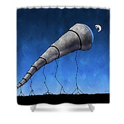 Look At Me Moon Shower Curtain by Gianfranco Weiss