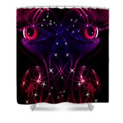 Look Into My Eyes Shower Curtain by Nathan Wright