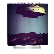 Look... It's A Flying Saucer Shower Curtain