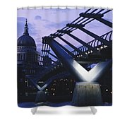 Looking Along The Millennium Bridge Shower Curtain