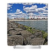 Looking At Ocnj Shower Curtain
