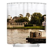 Looking At The Boardwalk Gazebo Walt Disney World Shower Curtain