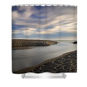 Looking At The Sea Shower Curtain