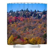 Looking At The Top Of Bald Mountain Shower Curtain