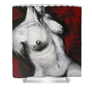 Looking Away - Nudes Gallery Shower Curtain