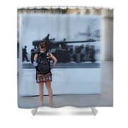 Looking Back In Time - Lisbon Shower Curtain