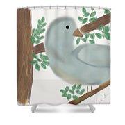 Looking Bird Shower Curtain