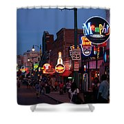Looking Down Beale Street Memphis Shower Curtain