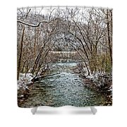 Looking Down Clifty Creek Shower Curtain