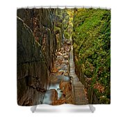 Looking Down Flume Gorge Shower Curtain