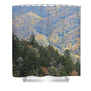 Looking Down On Autumn From The Top Of Smoky Mountains Shower Curtain
