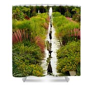 Looking Down Reflection Canal Shower Curtain