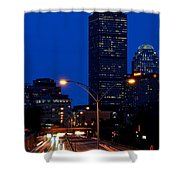 Looking Down The Mass Pike From The Brookline Ave Bridge Shower Curtain