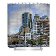 Looking Downtown Shower Curtain