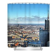 Looking East...the Rand Building Winter 2013 Shower Curtain