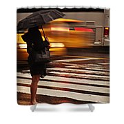 Looking For A Taxi - Rush Hour New York Shower Curtain