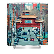 Looking For Chinatown Shower Curtain