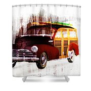 Looking For Surf City Shower Curtain by Bob Orsillo
