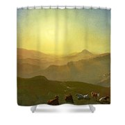 Looking From The Shade On Clay Hill .sunset Clay Street Hill San Francisco Shower Curtain