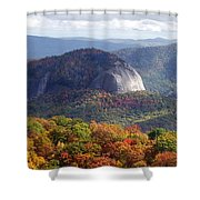 Looking Glass Rock And Fall Folage Shower Curtain