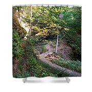 Looking Into Devil's Punch Bowl Wildcat Den Shower Curtain
