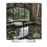 Looking Out 2 - Paradise Springs Spring House Interior  Shower Curtain