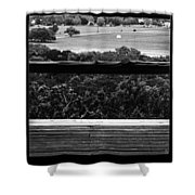 Looking Out A Country Door. Shower Curtain