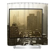 Looking Out On A Snowy Day - Nyc Shower Curtain