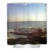 Looking Out Over The Ocean Shower Curtain