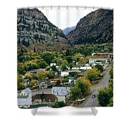 Looking Over Ouray From The Sutton Mine Trail Circa 1955 Shower Curtain