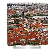 Looking Over Prague Shower Curtain
