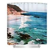 Looking South On The Northern California Coast Shower Curtain