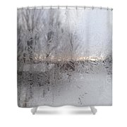 Looking Through The Frost IIi Shower Curtain