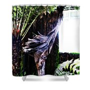 Looking Through The Window Of Extinction Shower Curtain